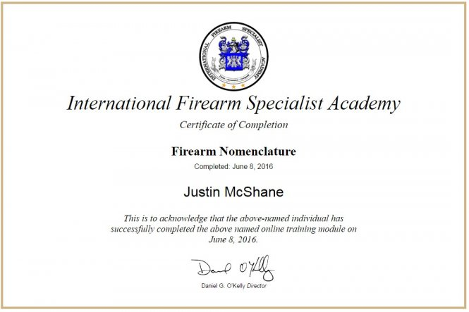 2016 Firearm Nomenclature - IFSA
