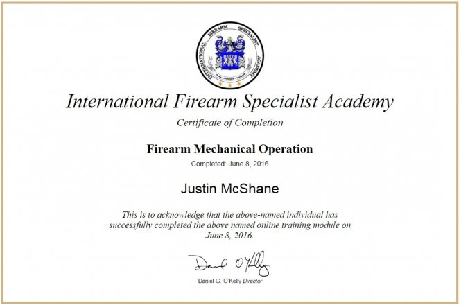 2016 Firearm Mechanical Operation - IFSA