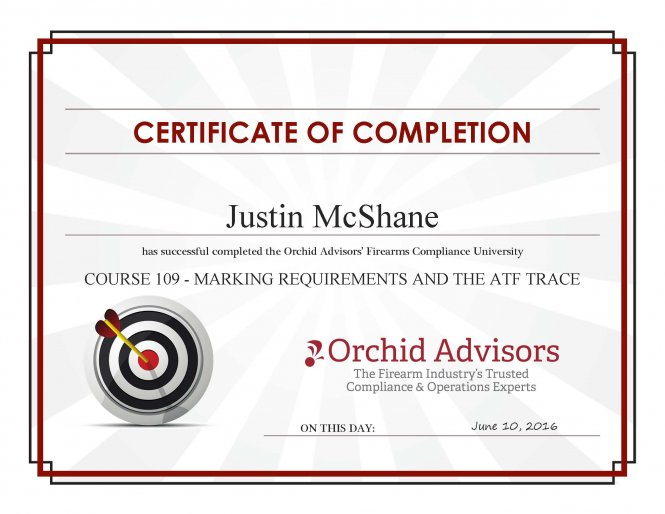 2016 Course 109 - Marking Requirements And The ATF Trace