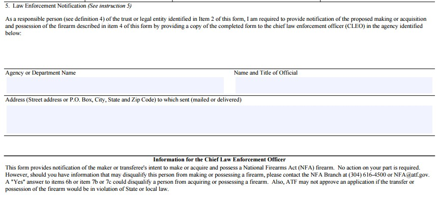 In A Post Atf 41F World, How To Fill Out An Atf Form 1, Form 4